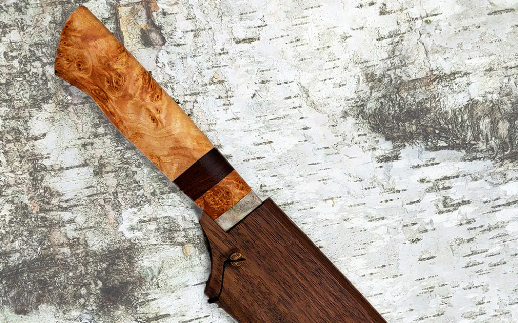 custom kitchen knife by Paige May, Wilderness Effects